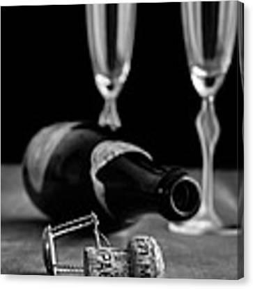 Champagne Bottle Still Life Canvas Print