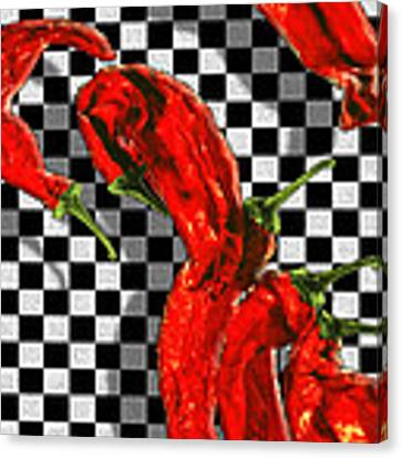 Checker Peppers Canvas Print by Paul Wear