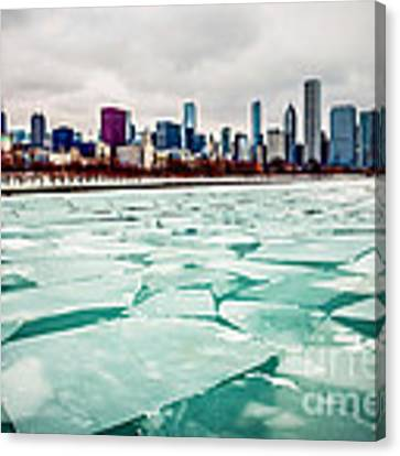Chicago Winter Skyline Canvas Print by Paul Velgos