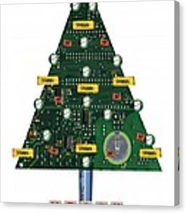 Christmas Tree Motherboard Canvas Print
