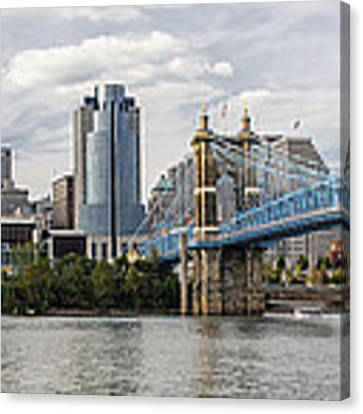 Cincinnati Skyline Canvas Print by At Lands End Photography