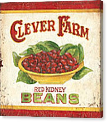 Clever Farms Beans Canvas Print