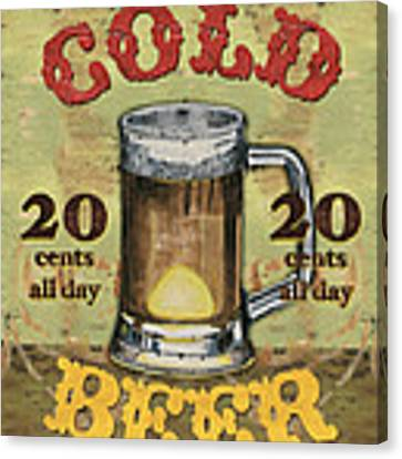 Cold Beer Canvas Print