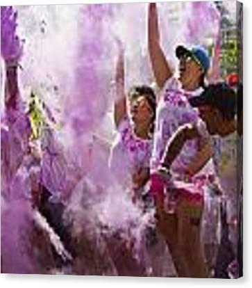 Colour Purple  Canvas Print by Debbie Cundy