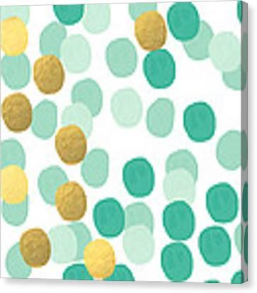 Confetti 2- Abstract Art Canvas Print