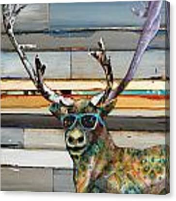 Cool Caribou Canvas Print