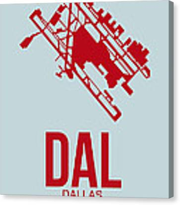 Dal Dallas Airport Poster 3 Canvas Print