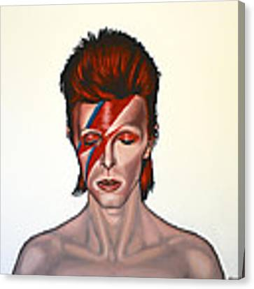 David Bowie Aladdin Sane Canvas Print by Paul Meijering