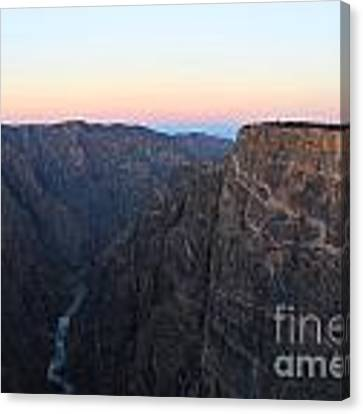 Dawn At The Black Canyon Canvas Print by Kate Avery
