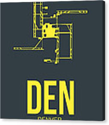 Den Denver Airport Poster 1 Canvas Print by Naxart Studio