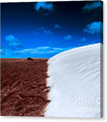 Desert Sand And Sky Canvas Print by Julian Cook