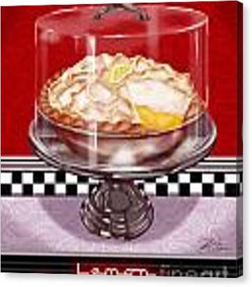 Diner Desserts - Lemon Meringue Pie Canvas Print