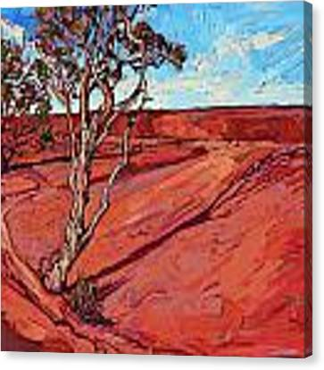 Edge Of The Canyon Canvas Print by Erin Hanson