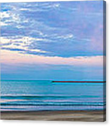End Of The Blue Hour Canvas Print by Steven Santamour