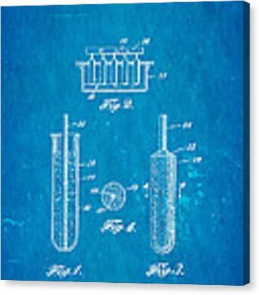Epperson Popsicle Patent Art 1924 Blueprint Canvas Print