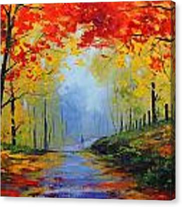 Fall Stroll Canvas Print by Graham Gercken