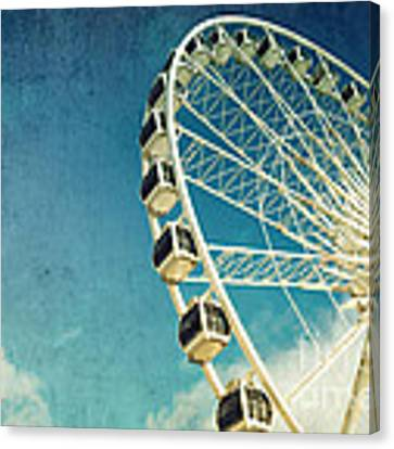 Ferris Wheel Retro Canvas Print by Jane Rix