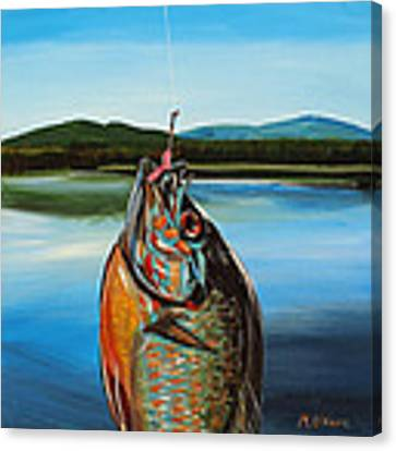 First Catch Canvas Print by Meghan OHare