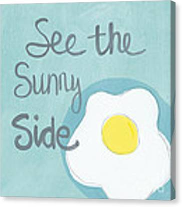 Food- Kitchen Art- Eggs- Sunny Side Up Canvas Print