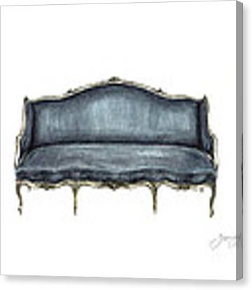 French Settee  Canvas Print