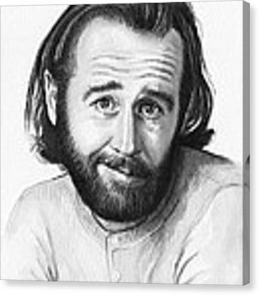George Carlin Portrait Canvas Print by Olga Shvartsur