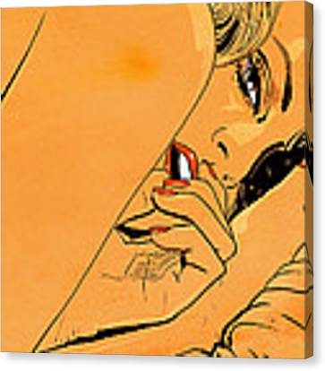 Girl In Bed 1 Canvas Print