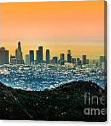 Good Morning La Canvas Print by Az Jackson