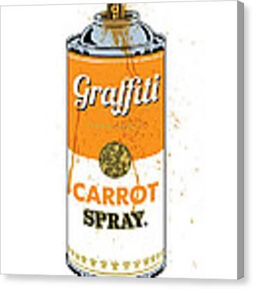 Graffiti Carrot Spray Can Canvas Print by Gary Grayson