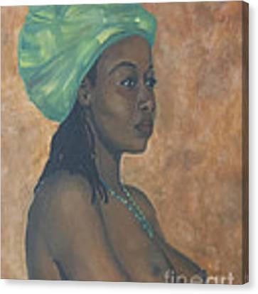 Green Headwrap Canvas Print by Dwayne Glapion