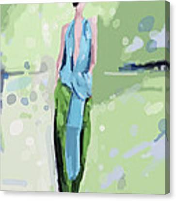 Haider Ackermann Fashion Illustration Art Print Canvas Print by Beverly Brown