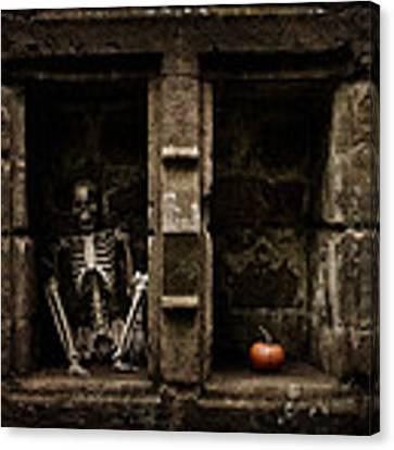 Halloween Skeleton Canvas Print by Amanda Elwell