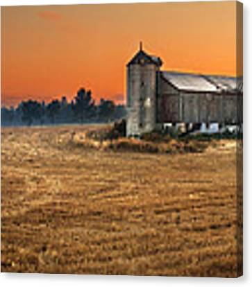 Harvest Morning Canvas Print by Garvin Hunter