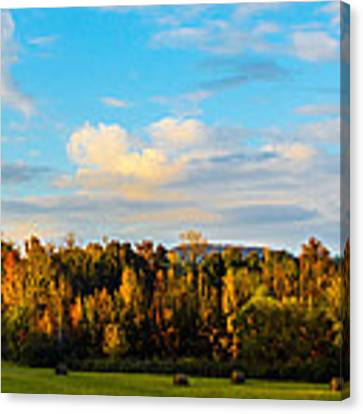 Harvest Time On The Farm Canvas Print by Parker Cunningham