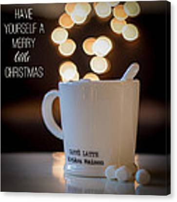 Have Yourself A Merry Little Christmas Canvas Print by Aldona Pivoriene