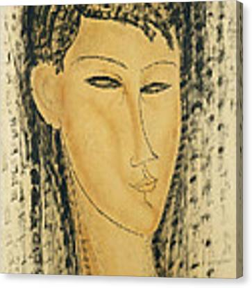 Head Of A Young Women Canvas Print