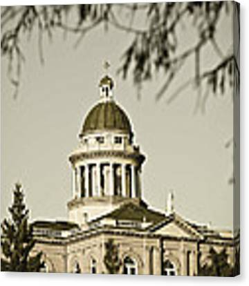 Historic Auburn Courthouse 6 Canvas Print by Sherri Meyer