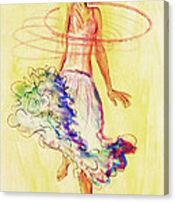 Hoop Dance Canvas Print by Angelique Bowman