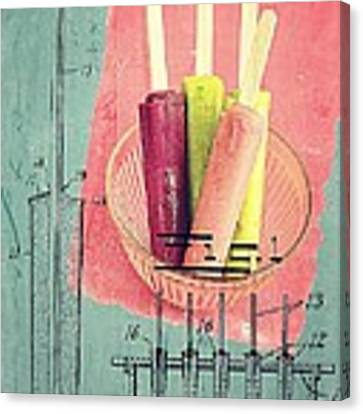 Invention Of The Ice Pop Canvas Print