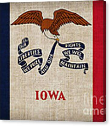 Iowa State Flag Canvas Print by Pixel Chimp