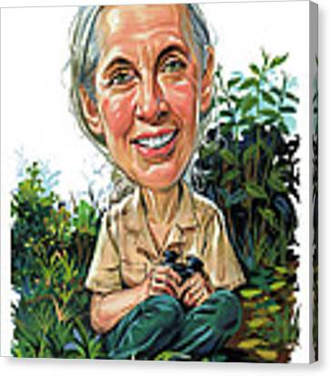 Jane Goodall Canvas Print