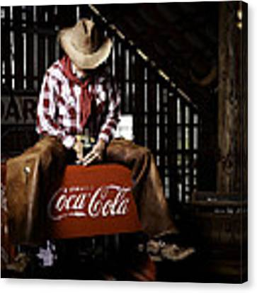 Just Another Coca-cola Cowboy 3 Canvas Print by James Sage