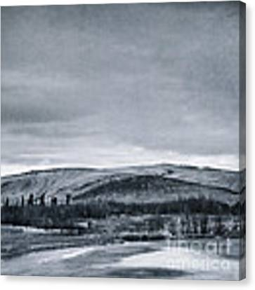 Land Shapes 11 Canvas Print by Priska Wettstein