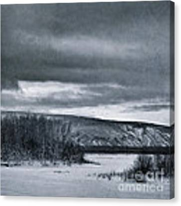 Land Shapes 14 Canvas Print by Priska Wettstein