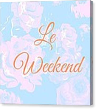 Le Weekend Canvas Print