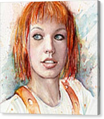 Leeloo Portrait Multipass The Fifth Element Canvas Print