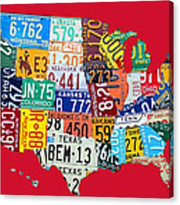 United States Map Canvas Prints And United States Map Canvas Art - Map license plate us