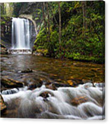 Looking Glass Falls - Blue Ridge Waterfalls Brevard Nc Canvas Print