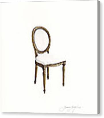 Louis Style Chair Canvas Print