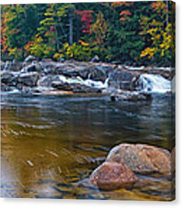 Lower Falls On The Swift River Canvas Print by Jeff Sinon
