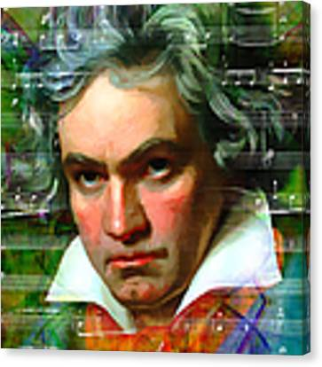 Ludwig Van Beethoven 20140122v2 Canvas Print by Wingsdomain Art and Photography